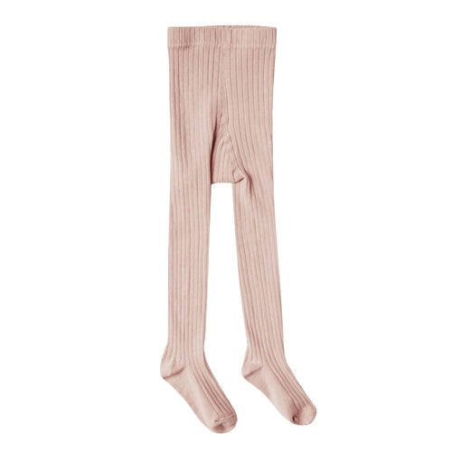 Rylee and cru pink ribbed girls tights
