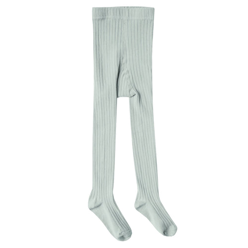 Girls light green ribbed tights
