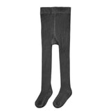 Rylee and Cru Vintage Black Rib Knit Girls Tights