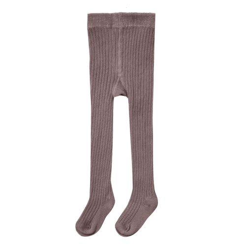Rylee and Cru Wine Rib Knit Girls Tights