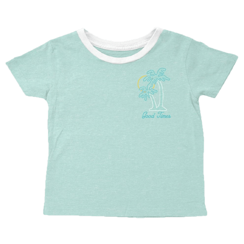 Tiny whales seafoam short sleeve girls graphic t-shirt