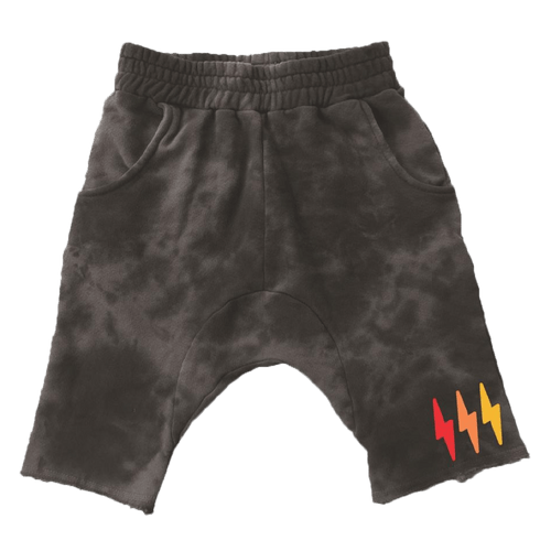 Tiny whales grey camo harem boys shorts