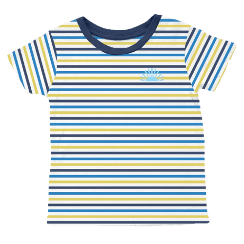 Tiny whales short sleeve stripe boys t-shirt