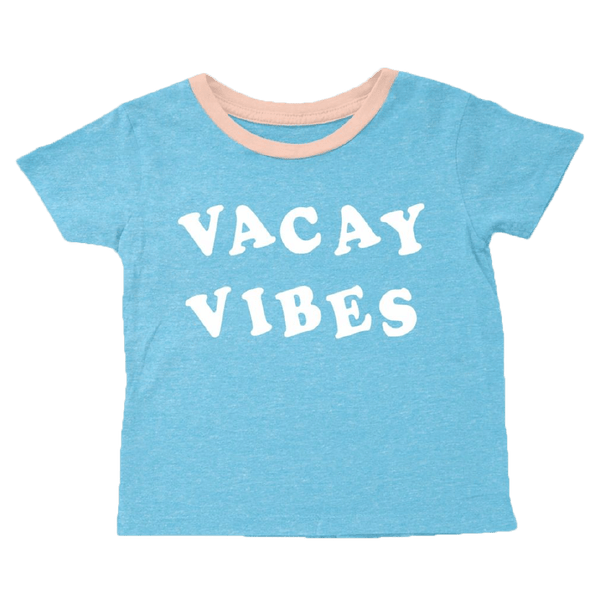 Tiny whales blue short sleeve vacay girls graphic t-shirt