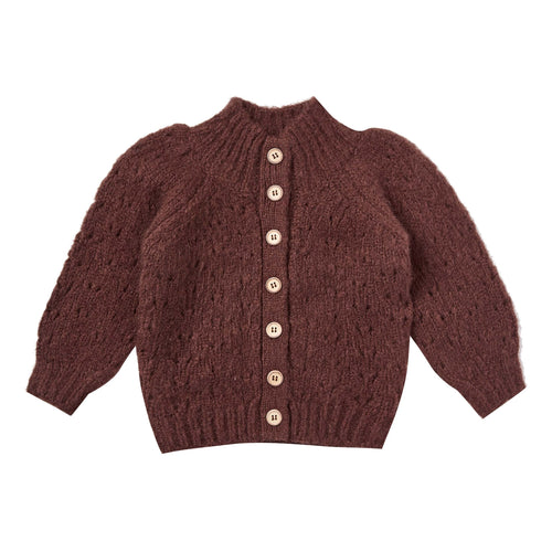 Rylee and Cru Wine Tulip Baby Sweater
