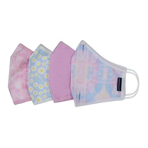 Cloth Face Mask Set 4 Pack - Daisies & Tie Dye - Ages 8+