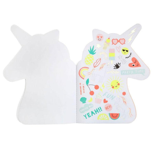 Unicorn sketch book with stickers inside