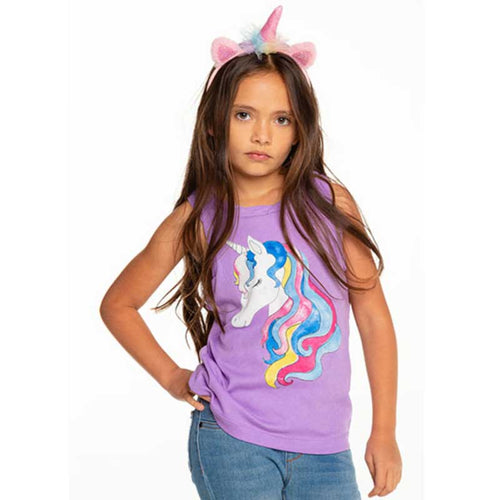 Chaser Unicorn Mane Muscle Girls Tank