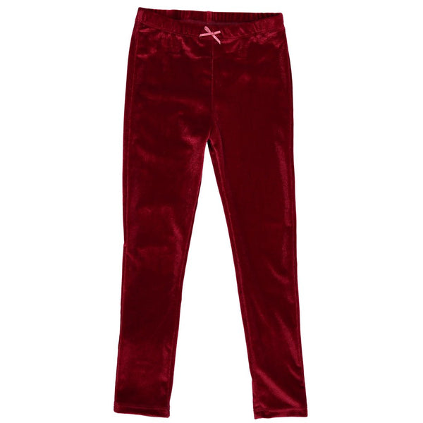 Pink Chicken Cerise Velour Leggings flat image