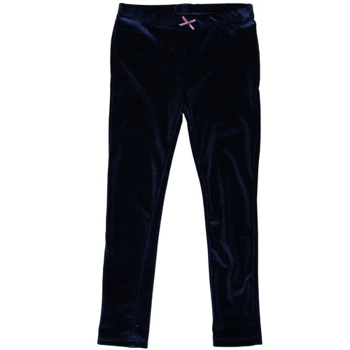 Pink Chicken Navy Velour Leggings flat image