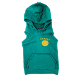 Wee monster green sleeveless boys vest hoodie