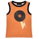 Wee monster orange vinyl graphic tank top for boys