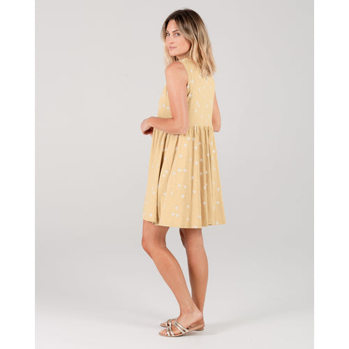 Rylee and cru yellow sunshine womens sleeveless dress