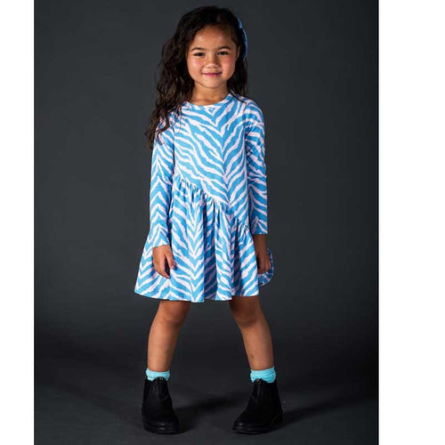 Rock Your Kid Blue Zebra Girls Dress