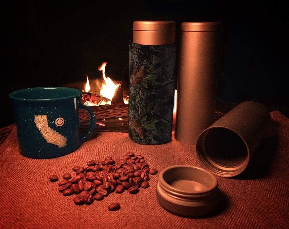 Titanium Travel Coffee Drink Canister