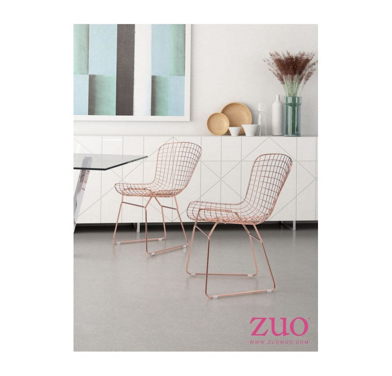 Silla Wire - Acero Inoxidable Rosado