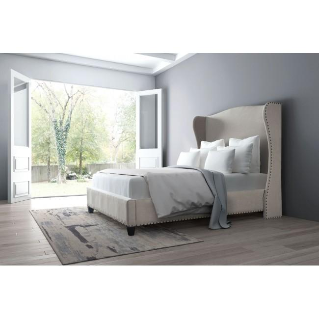 Cama Queen Size Modelo Enlightenment - Beige