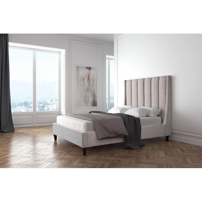 Cama King Size Modelo Gilded Age - Gris