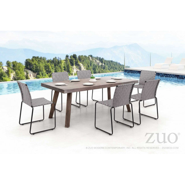 Silla de Comedor Modelo Beckett Light Gray - Gris