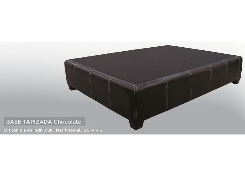 Base Tapizada Queen Size - Chocolate