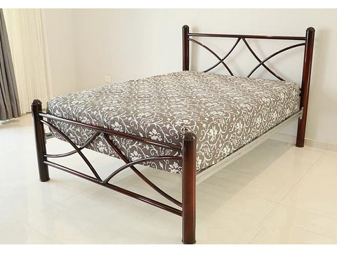 Cama 752T Individual Chocolate - Platino y Chocolate