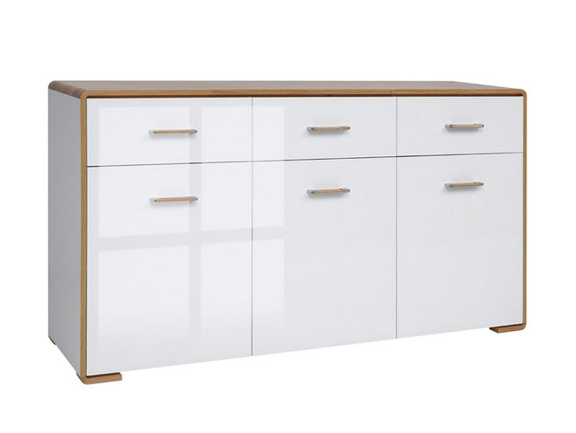 Buffet Modelo Ripon - Madera Natural Y Blanco Brillante