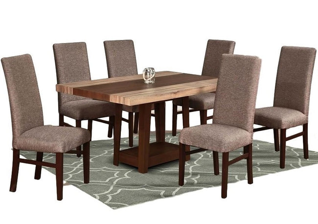 Comedor  6 Sillas Laurie - Tabaco