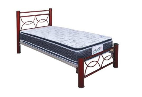 Cama 752T Matrimonial Chocolate - Platino y Chocolate