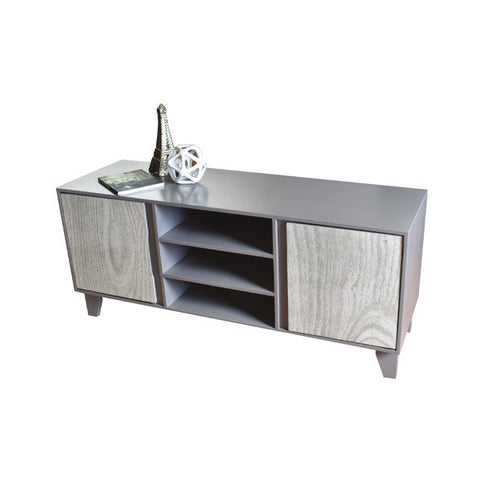 Mesa Para Tv Cracovia Roble Sonoma, Gris Y Blanco