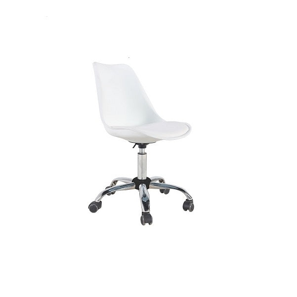 Silla New Office 3 - Blanco / Plata