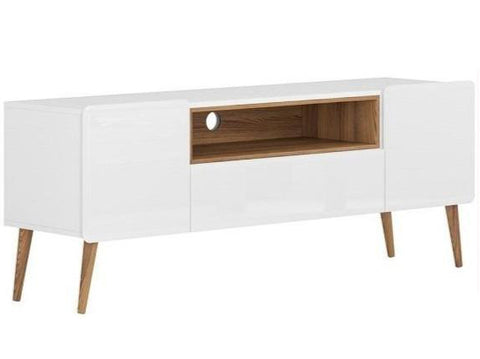 Mueble De Tv Linea Narrow - Nogal