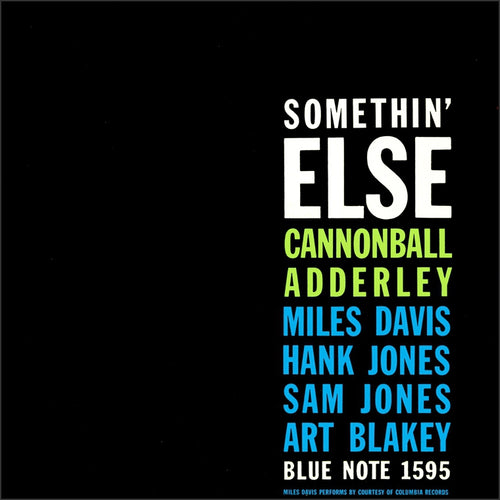CANNONBALL ADDERLEY - Somethin' Else  (Vinyle) - Wax Time