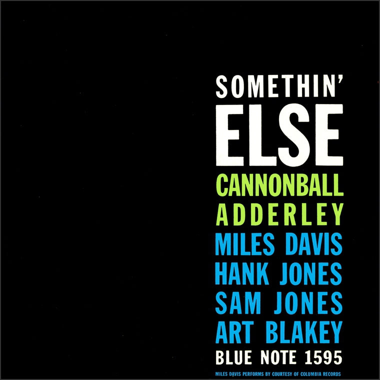 CANNONBALL ADDERLEY - Somethin' Else  (Vinyle) - blue note