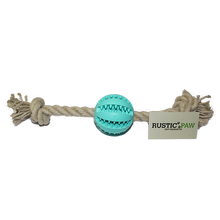 Rustic Paw® DentaRope Basic Ball and Rope Dog Toy - Large