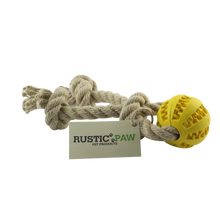 Rustic Paw® DentaRope Premium Ball and Rope Dog Toy – Large