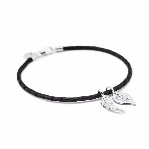 Feather and Leaf Bracelet