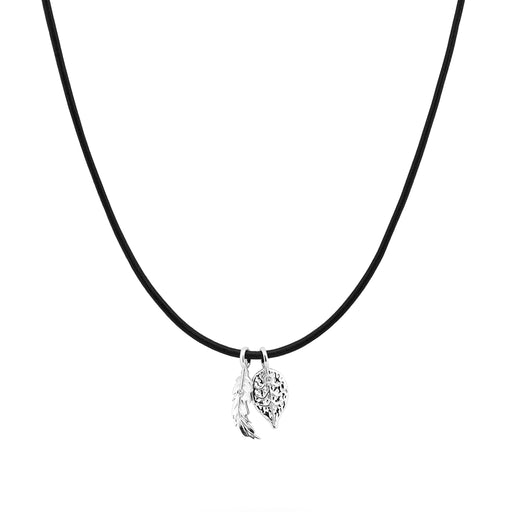 Feather and Leaf Pendant