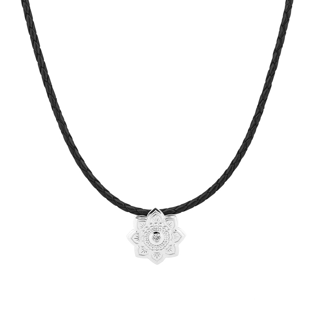 pearl necklace and novica white pendant p sterling silver sacred lotus