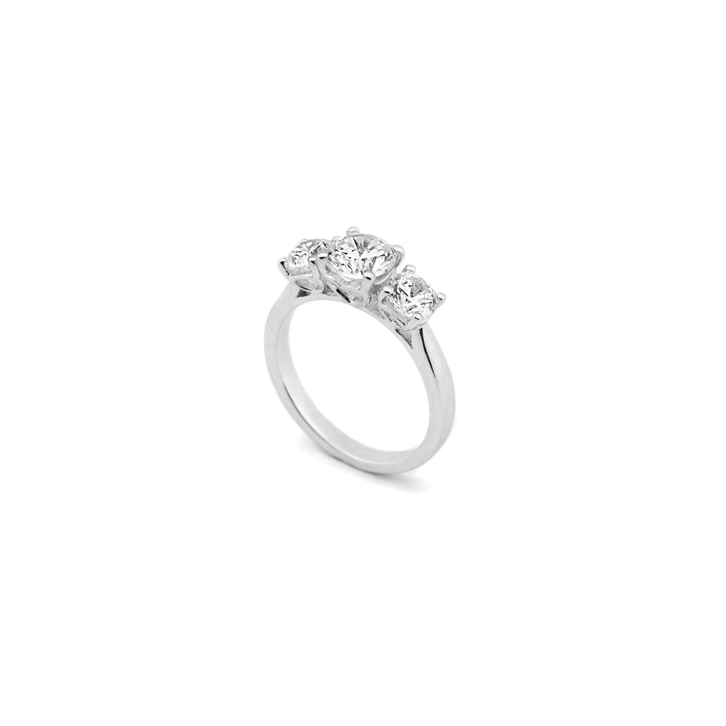 Classic 3 Stone Engagement Ring