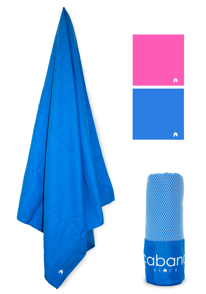 Cabana Beach Towels Classic Collection - Caribbean Blue