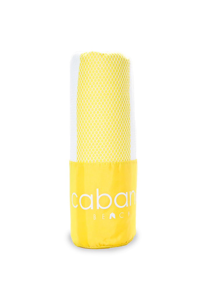 Cabana Beach Towels Stripe Collection - Sunset Yellow