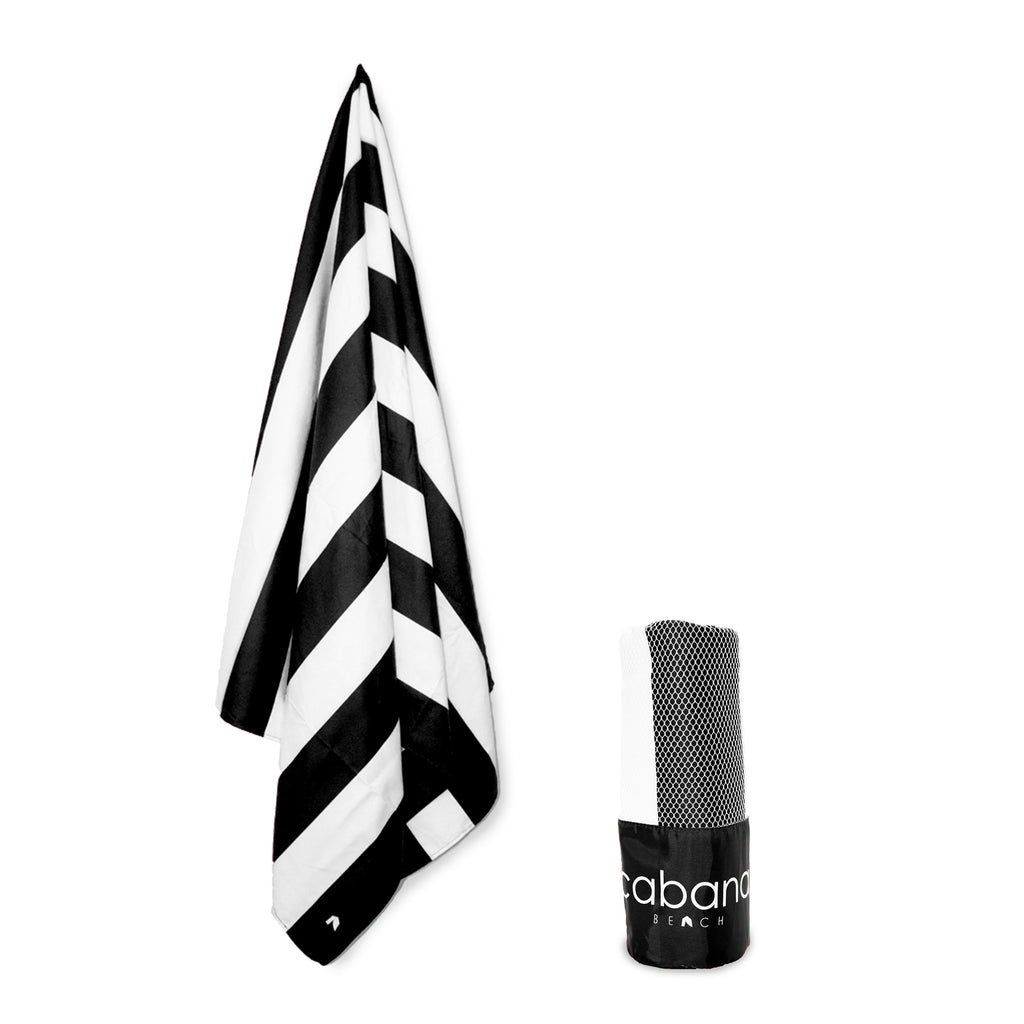 Cabana Beach Towels Stripe Collection - Black