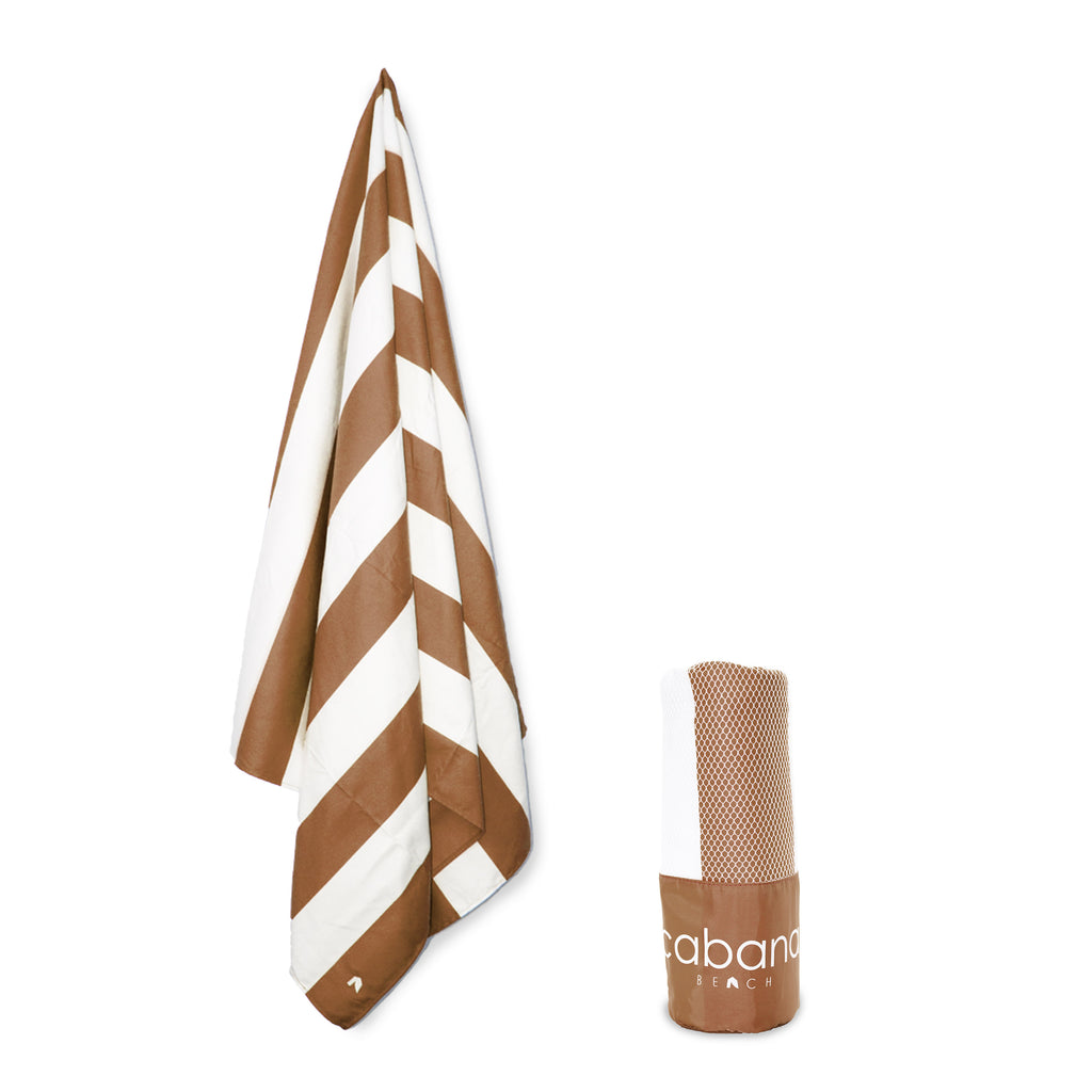 Cabana Beach Towels Stripe Collection - Mocha