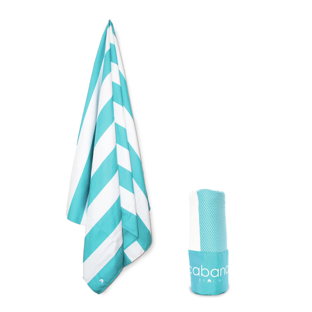 Cabana Beach Towels Stripe Collection - Tahiti Blue