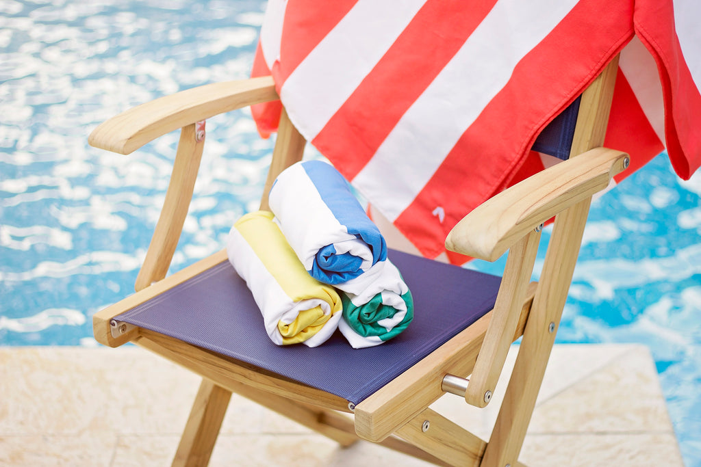 Cabana Beach Towels Stripe Collection - Caribbean Blue