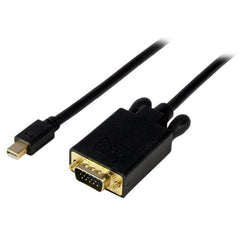 3 ft Mini DisplayPort to VGA Adapter Converter Cable–mDP to VGA 1920x1200-Black-Surface Sales