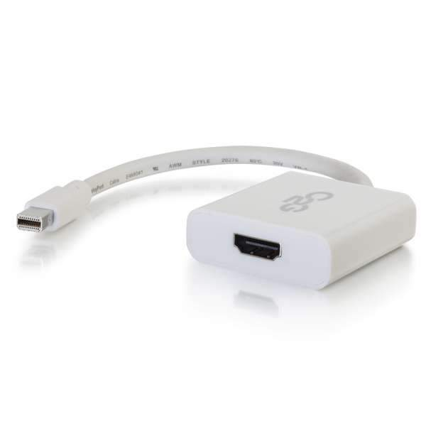 C2G 4K<br> Mini DisplayPort to HDMI<br> Active Adapter Converter - White<br> SKU C2G54308