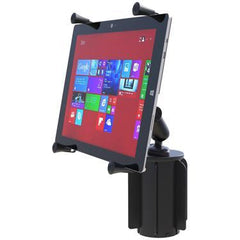 "RAM-A-CAN™<br> II Universal Cup Holder Mount<br> with Universal X-Grip®<br> Cradle for 12"" Tablets<br> SKU: RAP-299-3-UN11U-Surface Sales"
