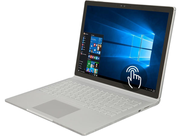 "Recertified Microsoft Surface Book Intel Core i7<br> 6th Gen 6600U (2.60 GHz) 8 GB<br> Memory 256 GB SSD NVIDIA GeForce 13.5""<br> Touchscreen 3000 x 2000<br> Detachable 2-in-1 Laptop Windows 10 Pro 64-Bit<br> SKU: WY7-00001"