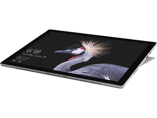 "Recertified Microsoft Surface Pro Intel Core i5<br> 7th Gen 7300U (2.60 GHz) 4 GB Memory<br> 128 GB SSD Intel HD Graphics 620 12.3""<br> Touchscreen 2736 x 1824<br> Detachable 2-in-1 Laptop Windows 10 Pro 64-Bit<br> SKU: FNV-00001"